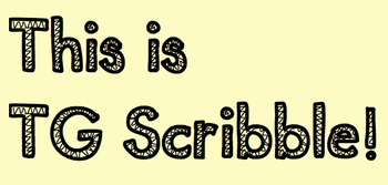 """""""TG Scribble"""" Font for Personal and Commercial Use"""
