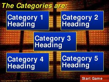 TGI Peril (A Jeopardy Style) Game