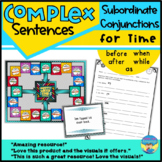 Combining Sentences Activities and Games using Subordinate Conjunctions for Time