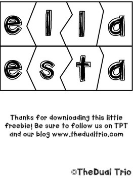 TGIF Spanish Sight Word Puzzle Preview