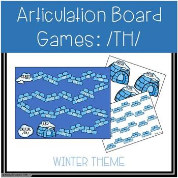 /TH/ Articulation Board Games - Winter Theme