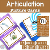 Articulation Picture Cards for TH