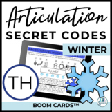TH Articulation Secret Codes BOOM Cards for Digital Speech