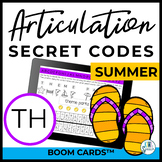 TH Articulation Secret Codes BOOM Cards - Summer | Speech