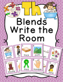TH Blends Digraphs Write the Room Activity