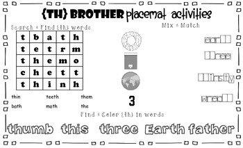 TH Brother Placemat