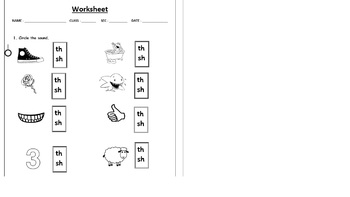 TH DIAGRAPH WORKSHEET