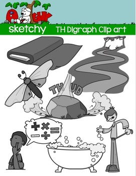 Digraphs TH / Word Families Clip art