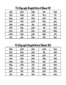 TH Digraph Leveled Phonics Pack