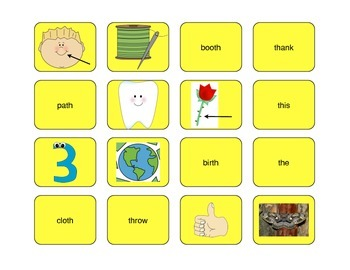 TH Digraph Word Sort