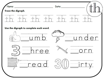 Digraph ck worksheets for kindergarten