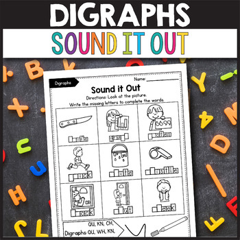 TH Digraphs Worksheets - Write the Missing Digraph