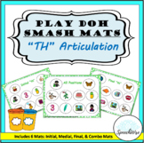 TH Sound Articulation Play Doh Smash Mats: Initial, Medial, Final and Combo