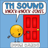 TH Sound Knock Knock Jokes Boom Cards   Speech Therapy   distance learning
