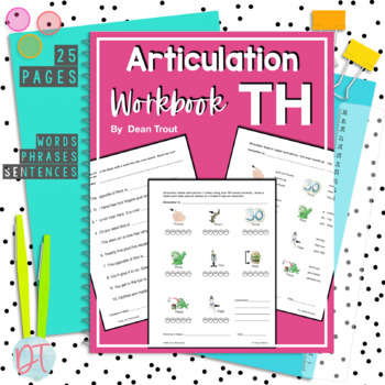 Articulation Workbook for the TH Sound Just print