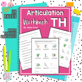 No Prep Articulation Workbook   TH Sound   Speech Therapy