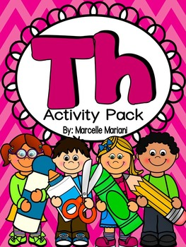 TH Activity Pack- Worksheets, Centers, Flip & Fold-able books, Word wall cards