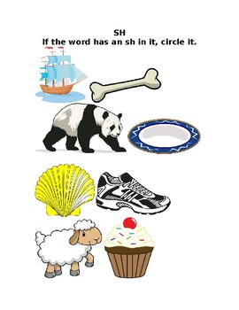 TH and SH Phonics Worksheet
