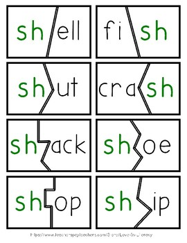 TH, SH, WH, CH Digraph Puzzles
