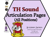 TH sound Articulation Pages