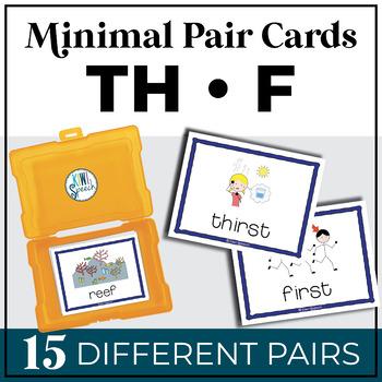 TH vs. F Minimal Pairs Flashcards {FREEBIE}