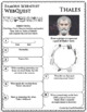 THALES Science WebQuest Scientist Research Project Biography Graphic Organizer
