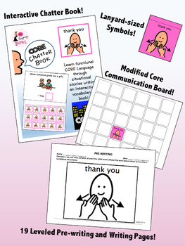 THANK YOU: Complete Core Word Activity Set