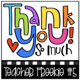 THANK YOU FREEBIE #5 (P4Clips Trioriginals) Teacher Appreciation