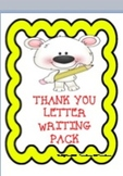 THANK YOU LETTER WRITING PACK