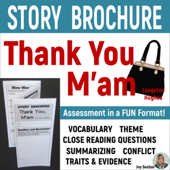 THANK YOU M'AM Foldable Story Brochure - Common Core 5-6-7-8