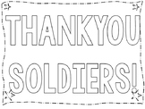 THANK YOU SOLDIERS! COLORING POSTER FOR YOUR PATRIOTIC CELEBRATIONS!