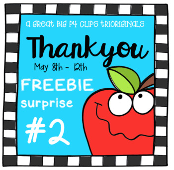 Thank You FREEBIE SURPRISE #2 (P4 Clips Trioriginals Clip Art)