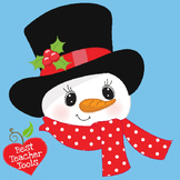 SNOWMAN IN  A JAUNTY TOP HAT - MERRY CHRISTMAS!