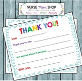 THANK YOU notecard for Kids