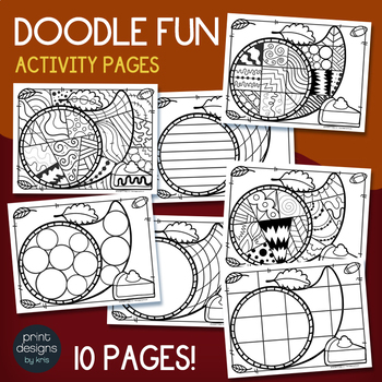 THANKSGIVING Activity Pages - Doodle Coloring Pages - My First Doodles
