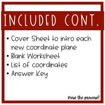 THANKSGIVING 4-Quadrant Coordinate Planes