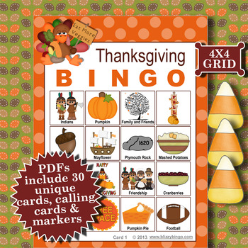 THANKSGIVING 4x4 BINGO