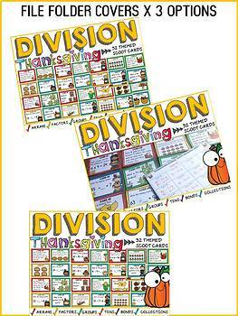 THANKSGIVING ACTIVITIES: DIVISION SCOOT