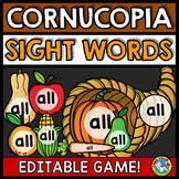 THANKSGIVING ACTIVITY 1ST GRADE (EDITABLE SIGHT WORDS GAMES) EDITABLE