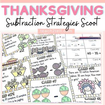 THANKSGIVING MATH ACTIVITIES: SUBTRACTION SCOOT