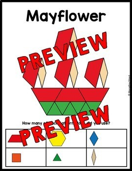 THANKSGIVING ACTIVITY 1ST GRADE (KINDERGARTEN PATTERN BLOCKS PUZZLES) NOVEMBER