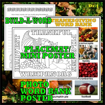 THANKSGIVING ACTIVITY PACK (Literacy)