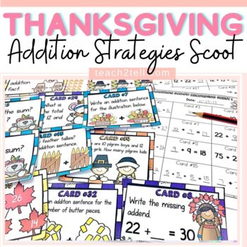 THANKSGIVING MATH ACTIVITIES:  ADDITION SCOOT