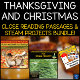 Thanksgiving and Christmas Close Reading Passages And Stea