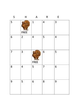 THANKSGIVING BINGO! HAVE FUN! GRADES 3-7