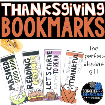 THANKSGIVING BOOKMARKS student gift