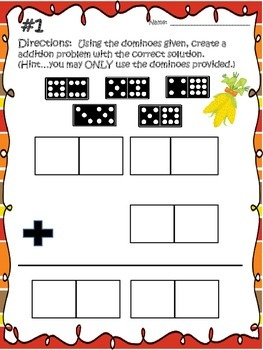 THANKSGIVING BRAIN TEASERS...Interactive Addition Dominoes with Regrouping