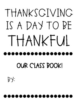 THANKSGIVING CLASS BOOK!