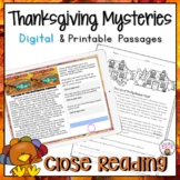 Thanksgiving Reading Comprehension Passages | Thanksgiving