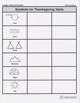 Thanksgiving Costume Patterns, Native American Symbols and Placemat